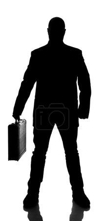 Photo pour Silhouette d'un homme d'affaires isolé sur fond blanc - image libre de droit