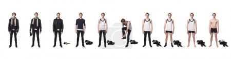 Photo for Man taking his clothes of step by step - Royalty Free Image