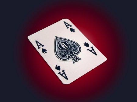 Photo pour Carte à jouer - As de pique - image libre de droit