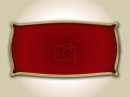 Photo pour Bouclier avec bords dorés - image libre de droit