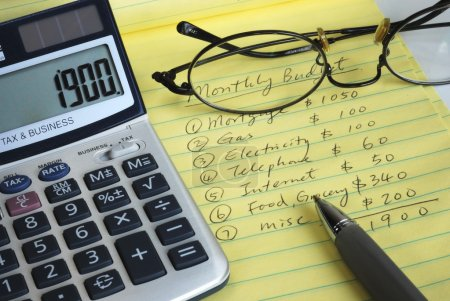 Determine the monthly budget
