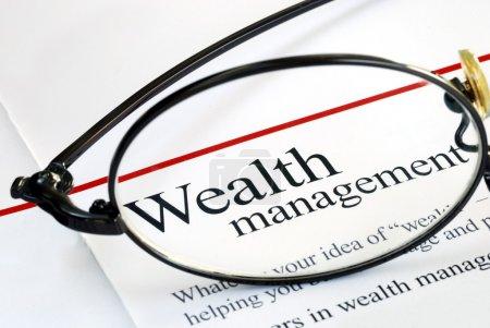 Photo pour Focus sur la gestion de patrimoine et l'investissement en argent - image libre de droit