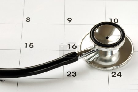 A stethoscope on the calendar