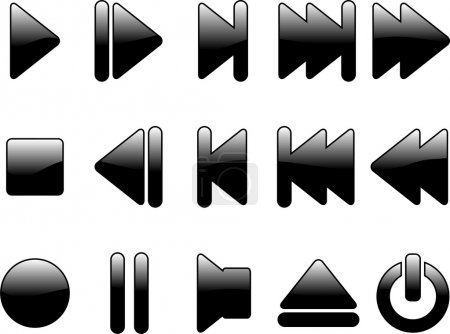 Glossy multimedia symbols