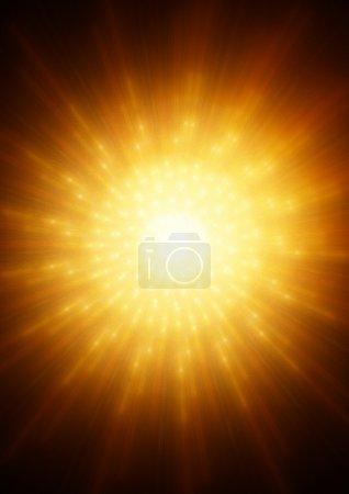 Photo pour Absrtacs backgound avec étoile de feu - image libre de droit