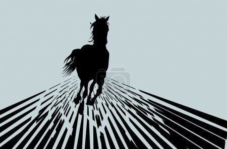Vector horse. Background