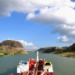 Chemical tanker going through the Panama Canal...