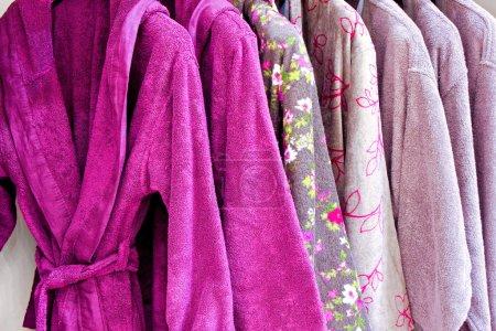 Purple bathrobe