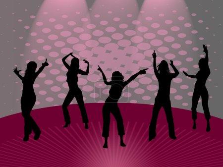 Photo pour Filles dansantes - image libre de droit