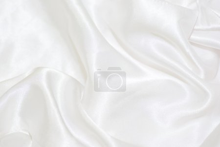 Photo pour Fond de satin blanc - image libre de droit