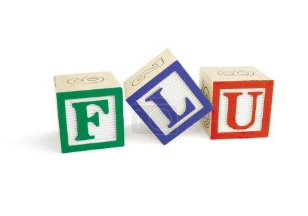 FLU Alphabet Blocks, tilted L