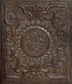 Antique stamped gutta-percha