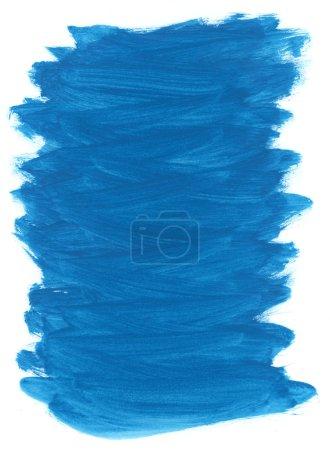 Photo pour Aquarelle bleu peint l'arrière-plan avec le motif de trait de brosse - image libre de droit