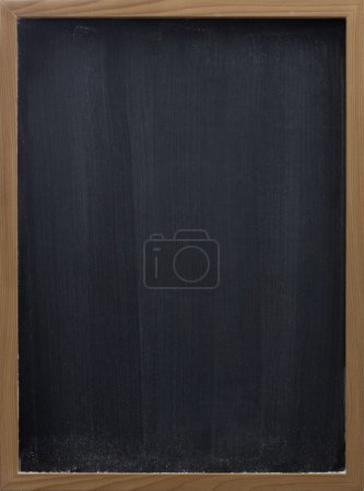 Blank blackboard with eraser smudges