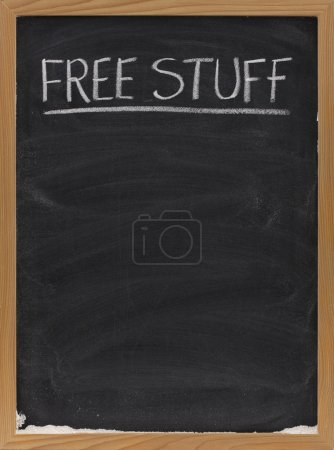 Free stuff text on blackboard