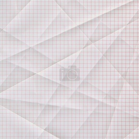 Folded and creased graph paper