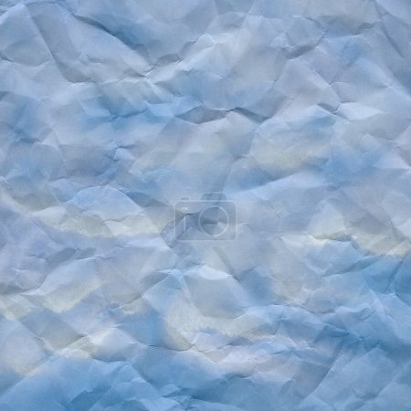 Blue and white crumpled paper texture