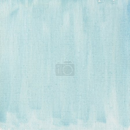 Photo for Texture of light blue watercolor abstract on cotton canvas, self made - Royalty Free Image