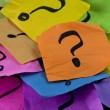 Questions, decision making or uncertainty concept ...