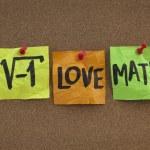 Постер, плакат: I love math concept on bulletin board