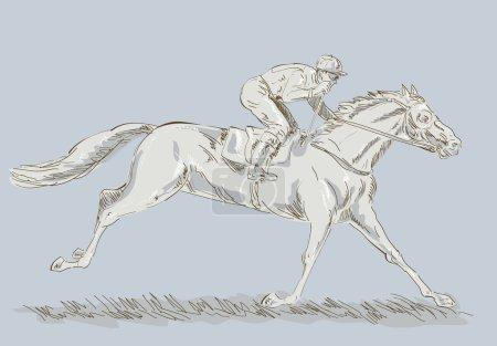 Horse jockey race racing winning