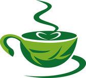 Coupe de la feuille verte de café