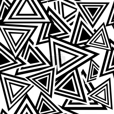 Illustration for Retro black and white seamless triangle background - Royalty Free Image