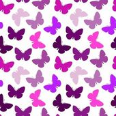 Violet seamless butterfly background