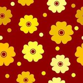 Seamless floral background with hot colors