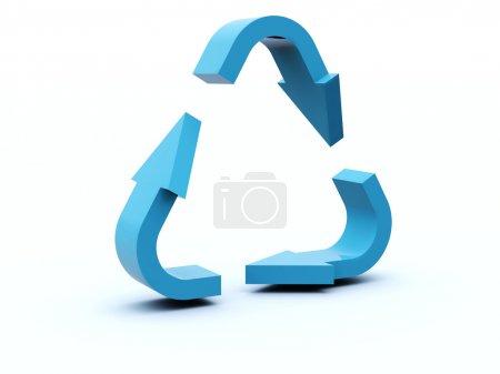 Photo pour Répétez l'icône de la série bleue et rouge - image libre de droit