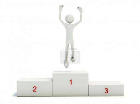 Winner on the pedestal