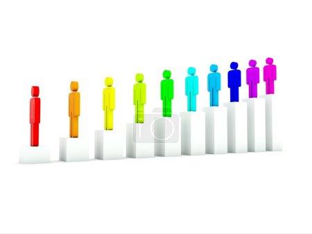 Photo pour Peuples de couleur isolés sur blanc - image libre de droit