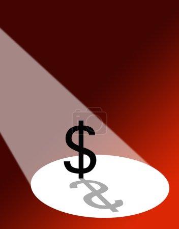 Dollar under spotlight