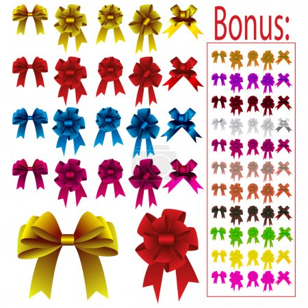 Illustration for Collection of different colored bows for holidays - Royalty Free Image