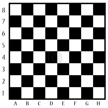 Chessboard black and white