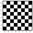 Chessboard with letters and numbers...