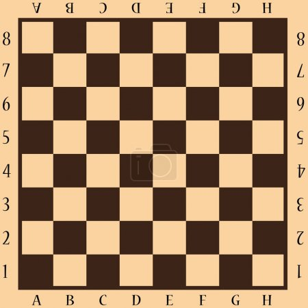 Beige and brown chessboard