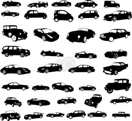 Illustration pour Collecte de voitures - vecteur - image libre de droit
