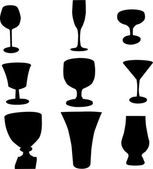 Drinking glass - vector