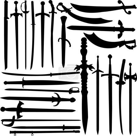 Swords collection vector...