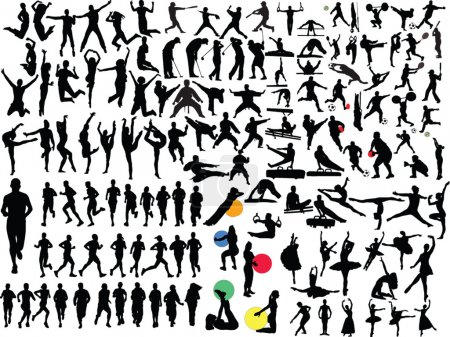 Illustration for Big collection of in different sport - vector - Royalty Free Image