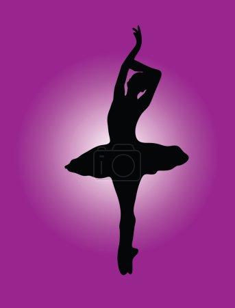 Ballerina with background