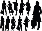 Business women collection silhouette