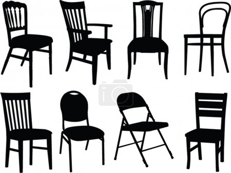 Illustration for Chairs collection - vector - Royalty Free Image