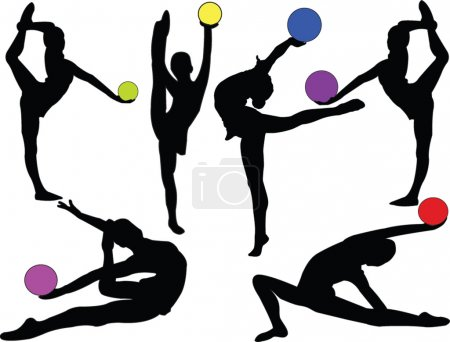 Gymnastic girls with ball