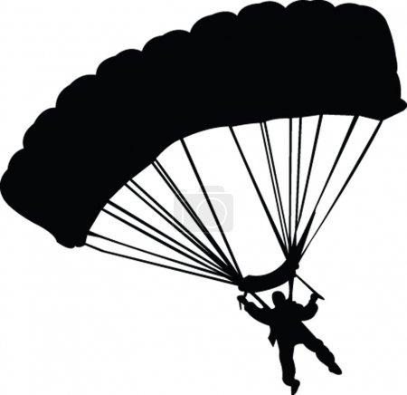 Parachutist silhouette - vector...
