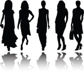 Girls silhouette with reflection 2