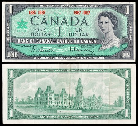 Old Canadian dollar bill