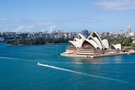 Photo for Viiew of Sydney Opera House taken from Sydney Harbour Bridge - Royalty Free Image