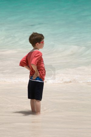 Boy in the surf